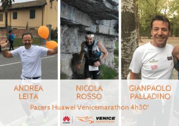 Gianpaolo Palladino - Andrea Leita - Nicola Rosso Venicemarathon Pacers 4h30'